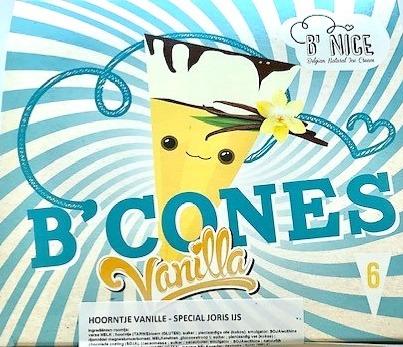 Cornet vanille met nootjes en chocolade