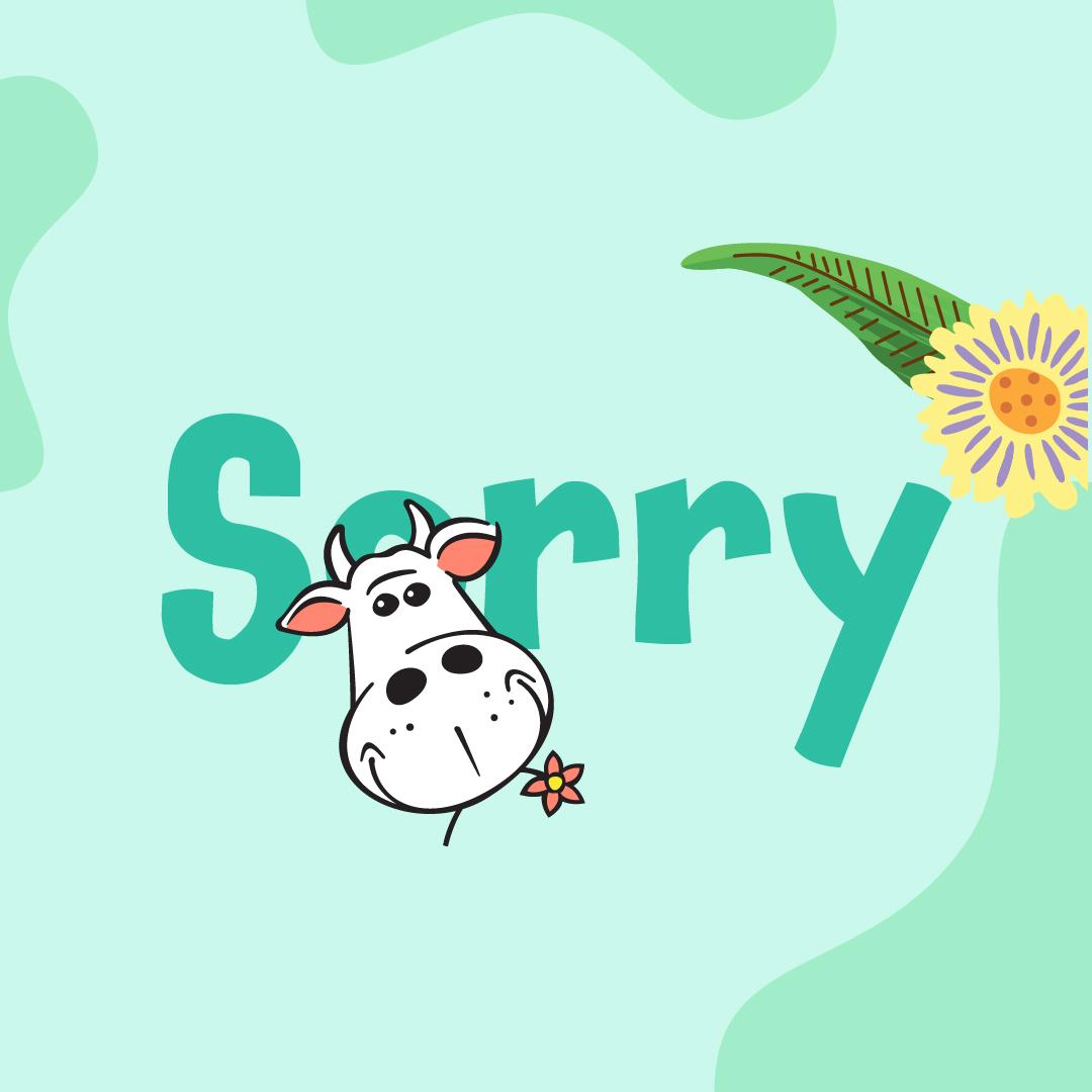 Cadeaubon Sorry